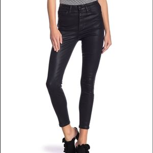 Joe's Jeans Coated High Rise Skinny Ankle Jeans
